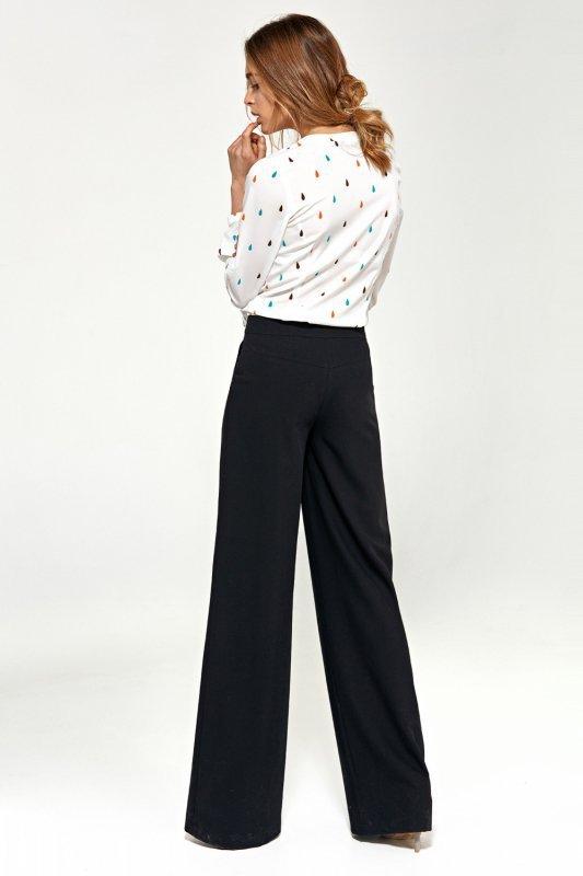 Spodnie typu palazzo SD31 Black - Nife