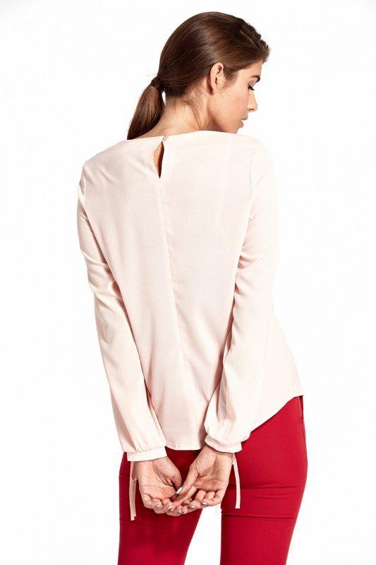 Bluzka z wycięciami na rękawach B95 Pink - Nife