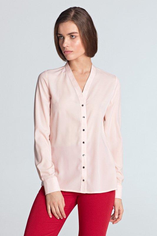 Bluzka ze złotymi napami B102 Pink - Nife