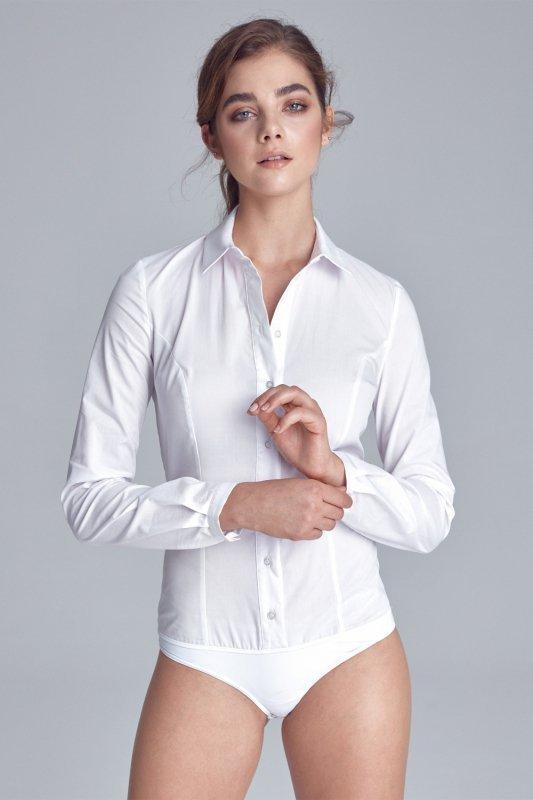 Klasyczna koszula body K54 White - Nife