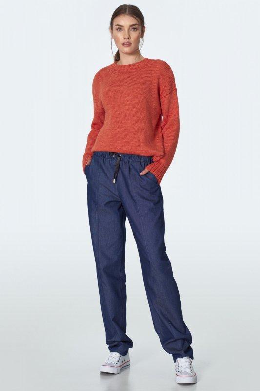 Spodnie jeansowe ze ściągaczami SD50 Jeans - Nife