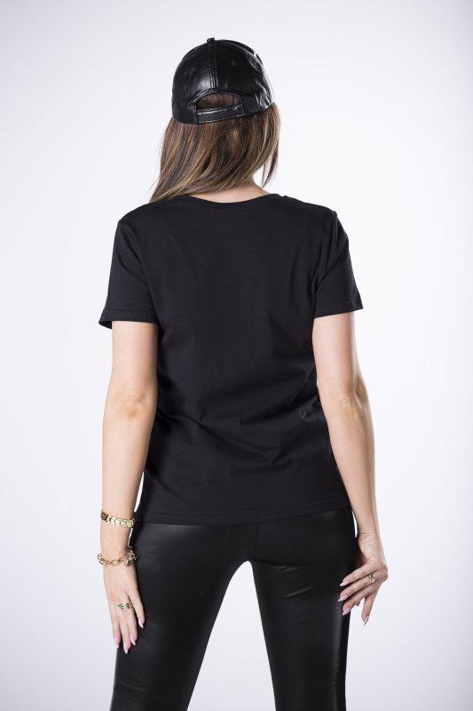 bawełniany t-shirt z nadrukiem