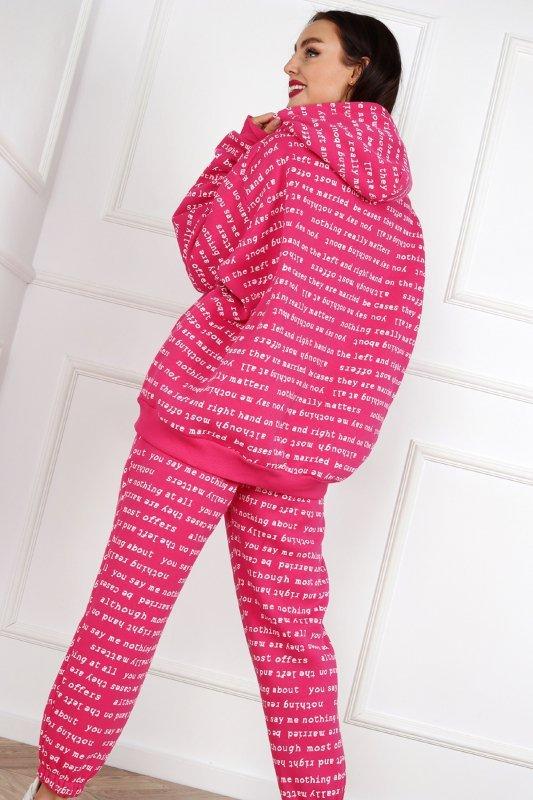 dresowe spodnie z napisami