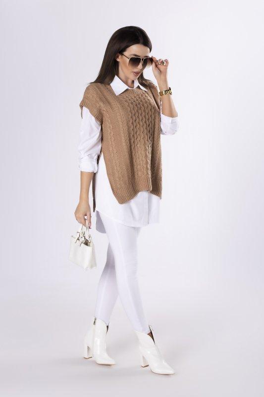 sweter z klasyczną koszulą