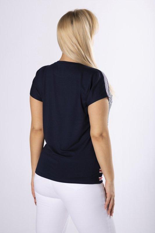 bluzka z nadrukiem z przodu