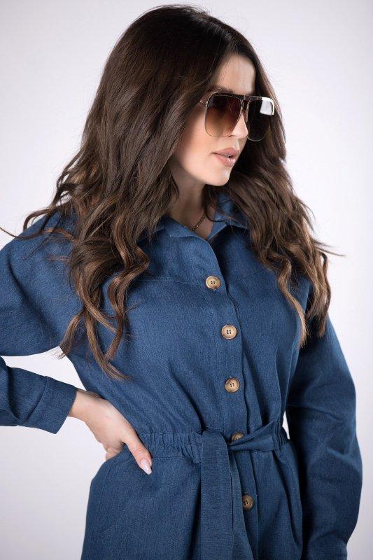 jeansowa sukienka szmizjerka