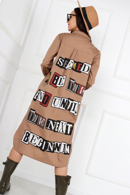 koszula z printem na plecach