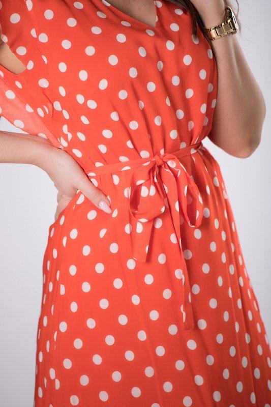 sukienka w groszki