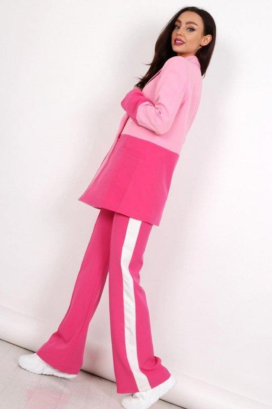 dwukolorowe spodnie w kant