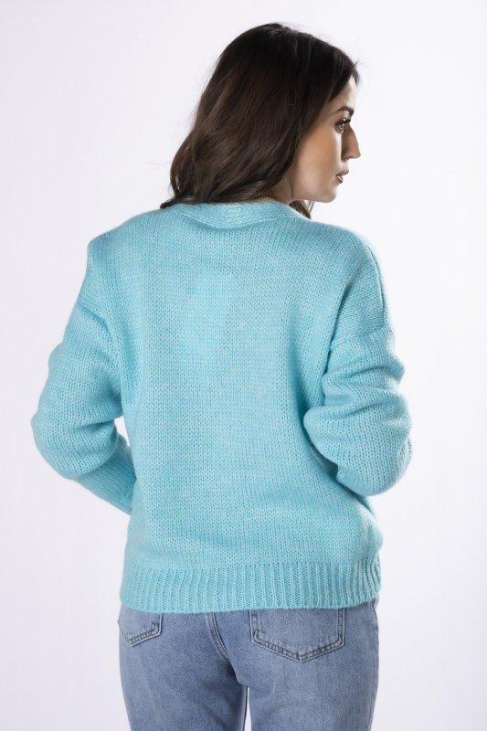 oversize'owy sweter z guzikami