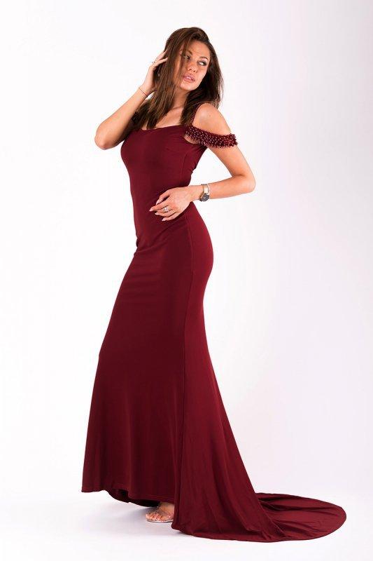 Sukienka Model 18079 Oberżyna - YourNewStyle