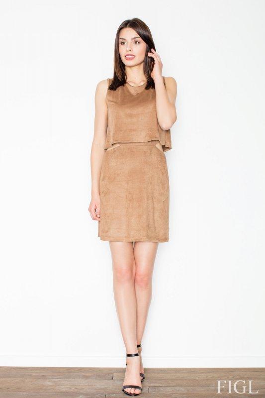 Sukienka MOdel M461 Brown - Figl