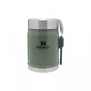Termos obiadowy ze sztućcem CLASSIC - 0,4 L zielony / Stanley