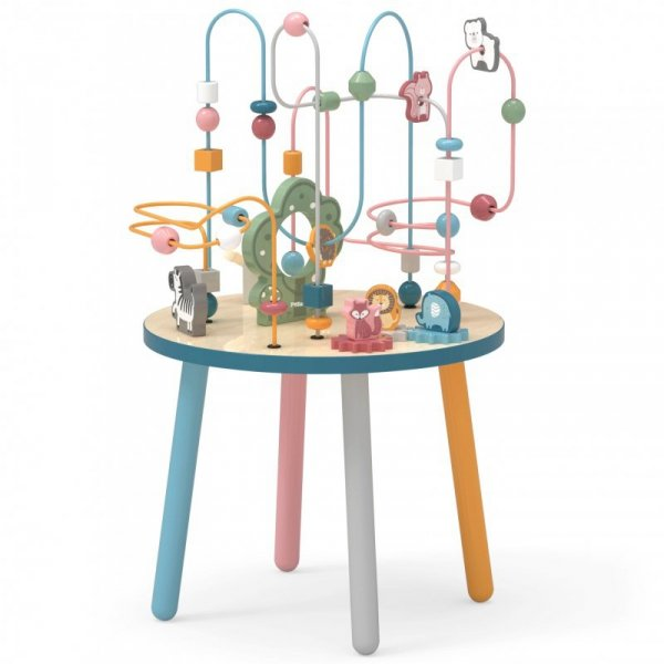 Drewniany Stolik Edukacyjny Manipulacyjny Przeplatanka - Viga Toys