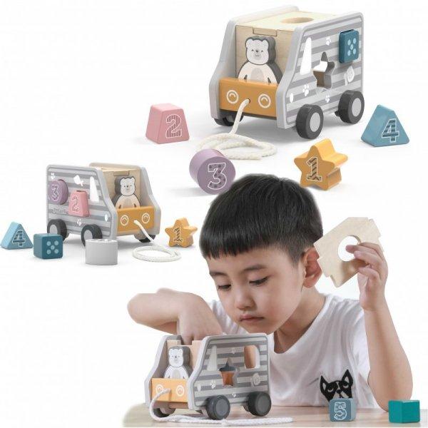 Drewniany samochód do ciągnięcia - Viga Toys
