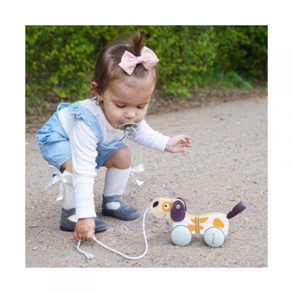 Drewniany Piesek do Ciągnięcia - PolarB - Viga Toys