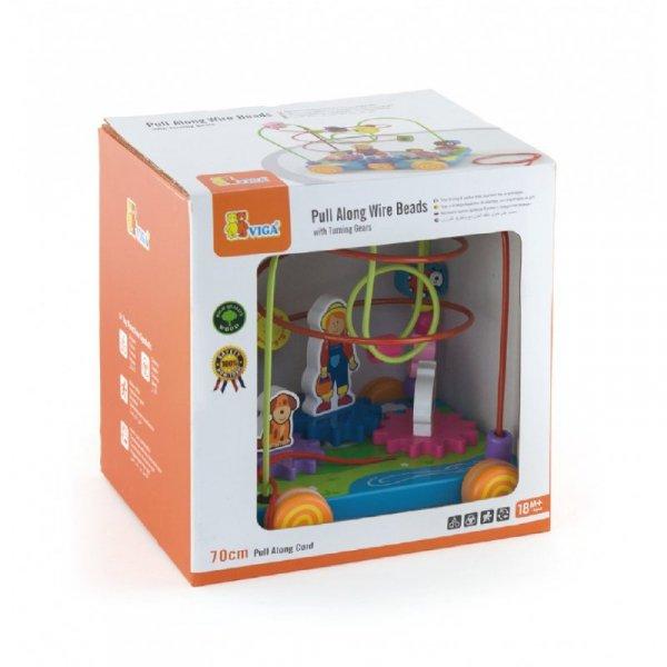Drewniany Labirynt Przeplatanka - edukacyjno sensoryczny - Viga Toys