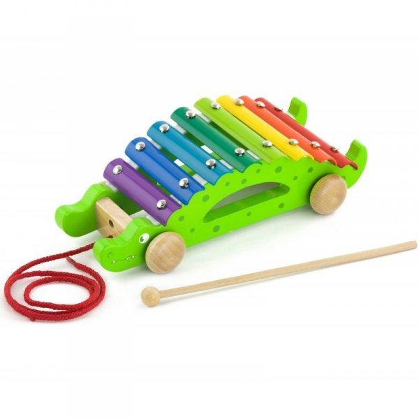 Kolorowe Cymbałki Krokodyl - Viga Toys