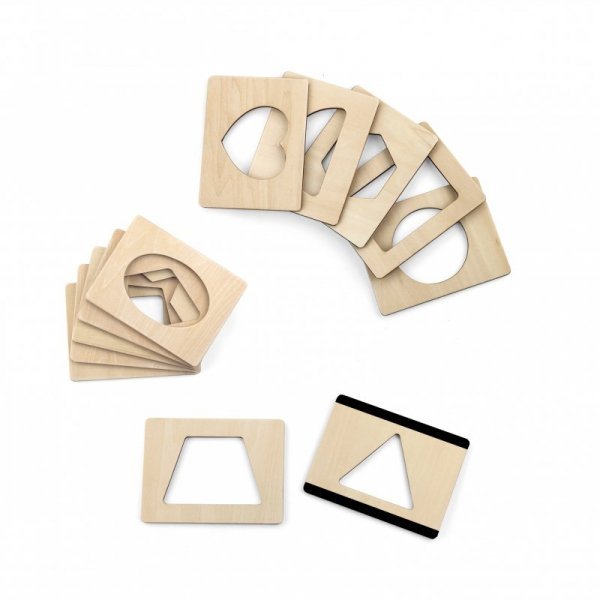 Drewniane Puzzle Magnetyczne Szablony - Viga Toys