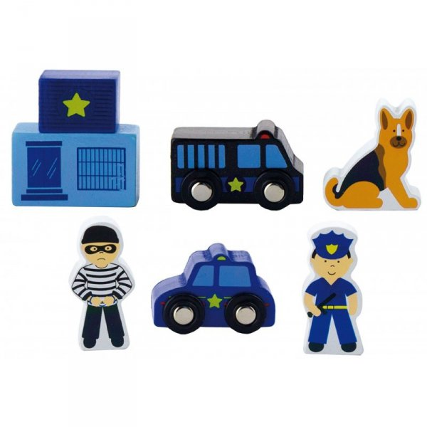 Zestaw figurek - Policja - Akcesoria do kolejki - Viga Toys