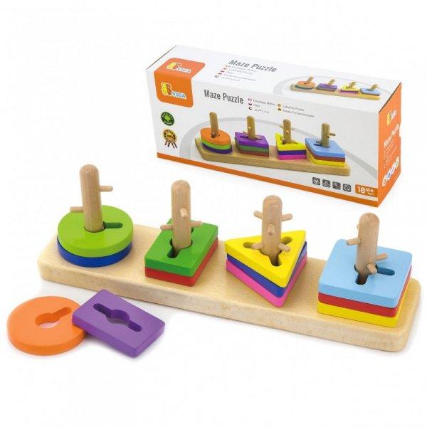 Drewniany sorter kształtów - Viga Toys