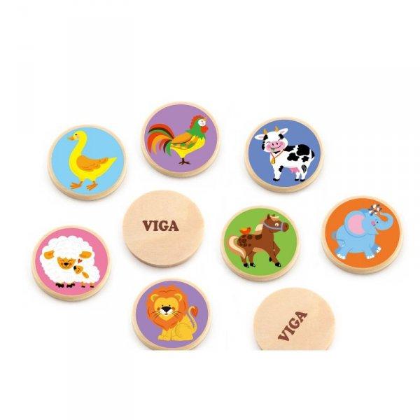 Gra Zapamiętywanie Memo Zwierzątka - Viga Toys