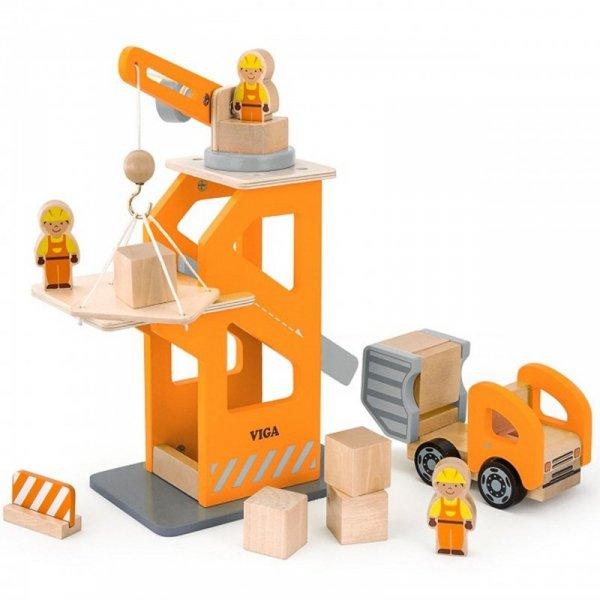 Drewniany Plac Budowy z akcesoriami - Viga Toys