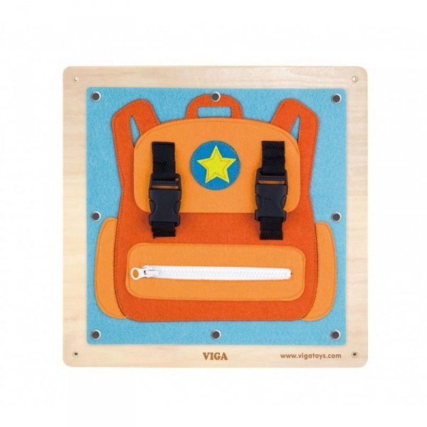 Drewniane Tablice Sensoryczne Ubrania i zapięcia - Viga Toys