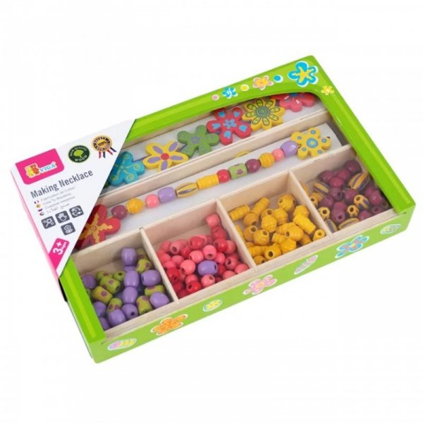 Koraliki Do Nawlekania Kolorowe Stwórz Bransoletkę Biżuteria - Viga Toys