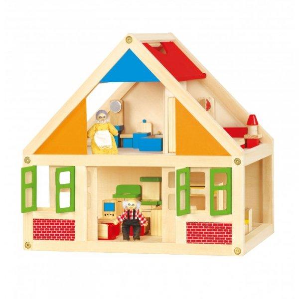 Drewniany Domek Dla Lalek - Viga Toys