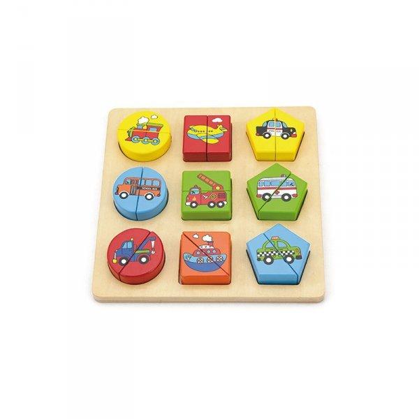 Puzzle Drewniane Pojazdy - Viga Toys
