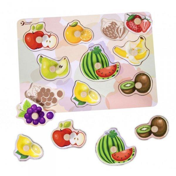 Układanka Puzzle Pinezkowe Owoce - Classic World