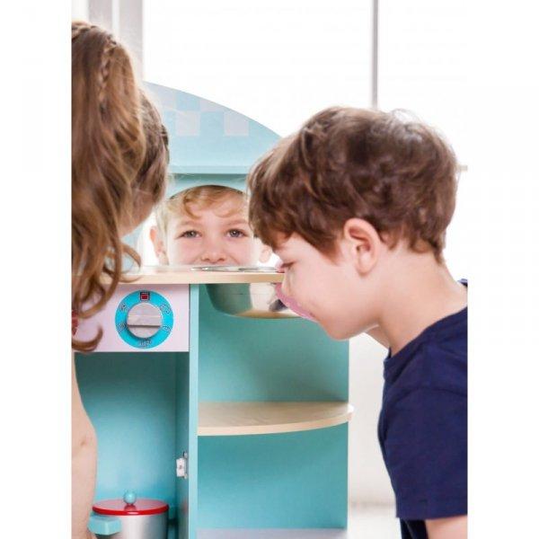 Kuchnia Dla Dzieci Drewniana Niebieska - Classic World