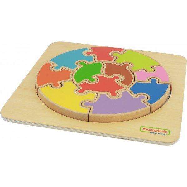 Ogromne Puzzle Okrągła Układanka Kolorowa - Masterkidz