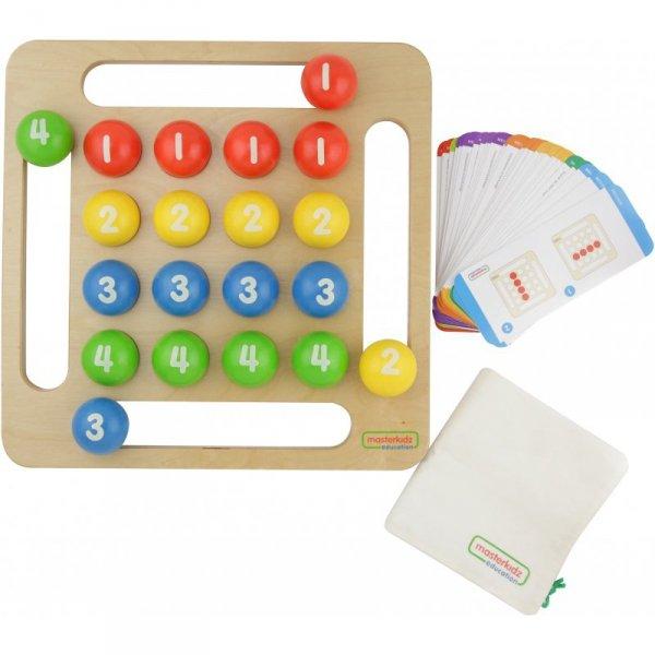 Kolorowe Kulki Drewniana Gra Dla Dzieci - Masterkidz