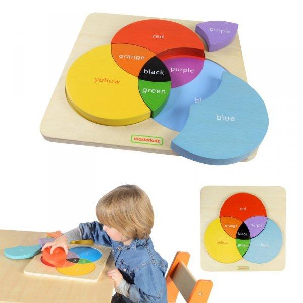 Drewniana Tablica Edukacyjna Mieszanie Kolorów - Masterkidz