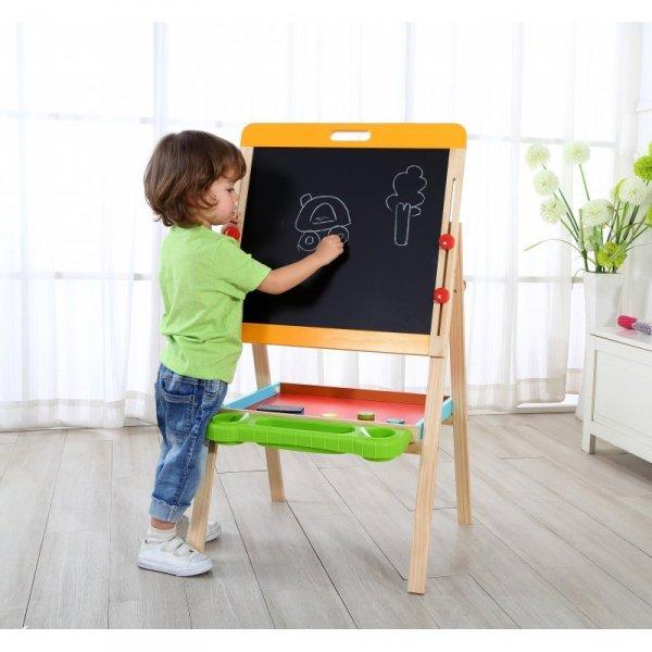 Dwustronna Magnetyczna Tablica Stojąca Dla Dzieci Składana - TOOKY TOY