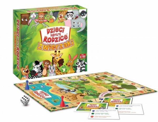 Gra planszowa Dzieci kontra rodzice: zwierzaki