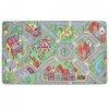 Mata do zabawy, wzór miejskie uliczki, 170 x 290 cm