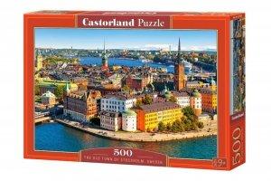 Castor Puzzle 500 elementów Sztokholm Szwecja Stare Miasto
