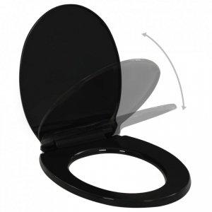 Deska sedesowa, wolnoopadająca, z szybkozłączem, czarna