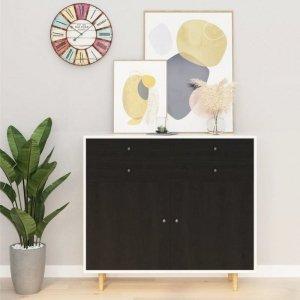 Okleina meblowa samoprzylepna, ciemne drewno, 500x90 cm, PVC