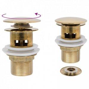 Korek klik-klak z funkcją przelewu, złoty, 6,4x6,4x9,1 cm