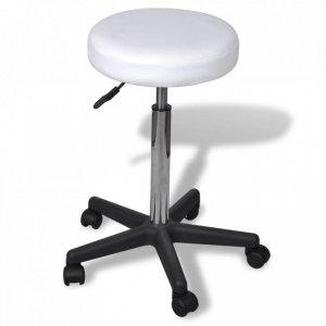 Stołek biurowy, biały
