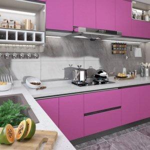 Okleina meblowa, fioletowa, wysoki połysk, 500x90 cm, PVC