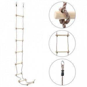 Drabinka sznurowa dla dzieci, 290 cm, drewniana