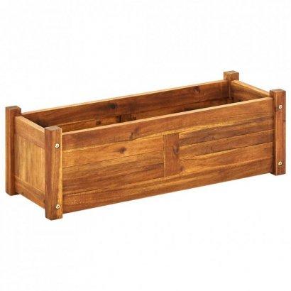 Podwyższona donica ogrodowa, drewno akacjowe, 76x27,6x25 cm