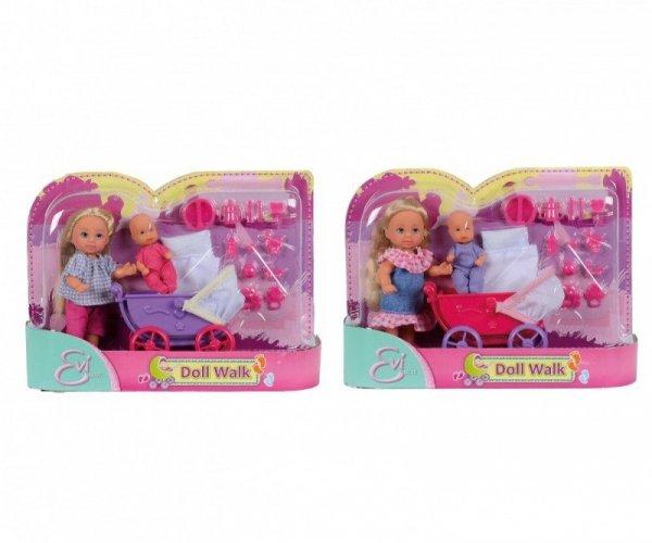 Simba Lalka Evi Love z wózkiem i laleczką