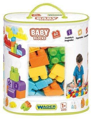 Wader Klocki Baby Blocks Torba 60 elementów