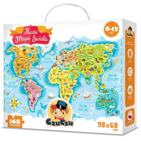 CzuCzu CZUCZU Puzzle Mapa Świat a6-12 lat